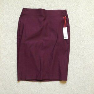 Elle Pull On Stretch Pencil Skirt Stretch Violet S